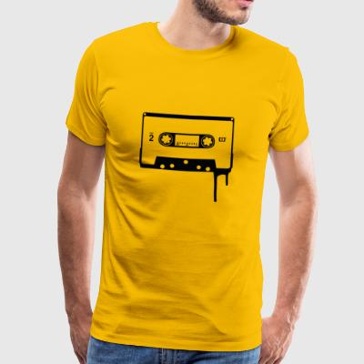 Old School Cassette Audio - Premium-T-shirt herr
