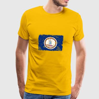 Virginia Vintage Flag - Premium T-skjorte for menn