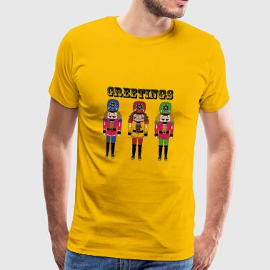 Nutcracker Greetings - Men's Premium T-Shirt