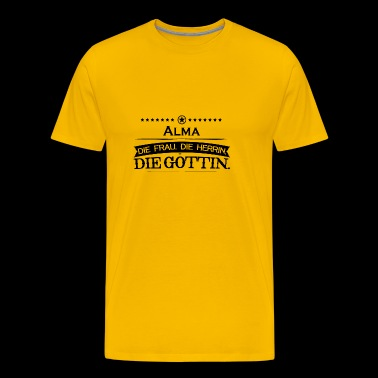 birthday legend goettin alma - Men's Premium T-Shirt