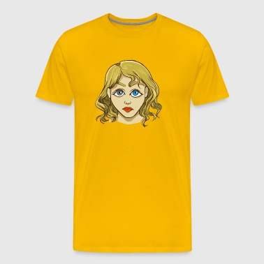 Face of a woman - Men's Premium T-Shirt