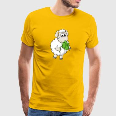 Lucky comic sheep - Men's Premium T-Shirt