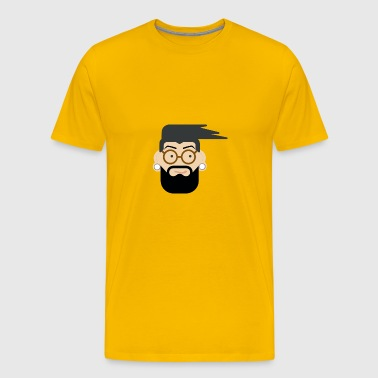Hipster with tunnels - Men's Premium T-Shirt