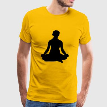 Yoga meditating woman - Men's Premium T-Shirt