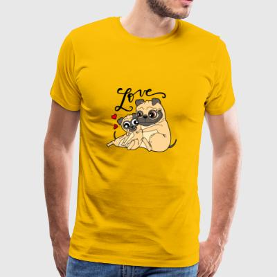 Dog love - Männer Premium T-Shirt