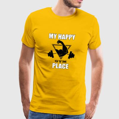 Min Happy Place Gym T skjorte gave - Premium T-skjorte for menn