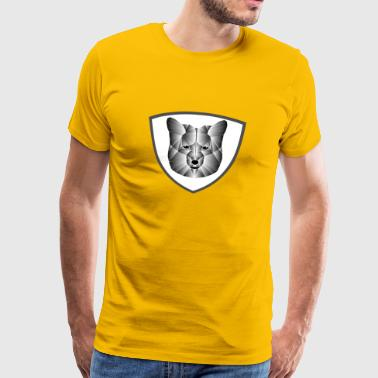 lav poly fox - Premium T-skjorte for menn