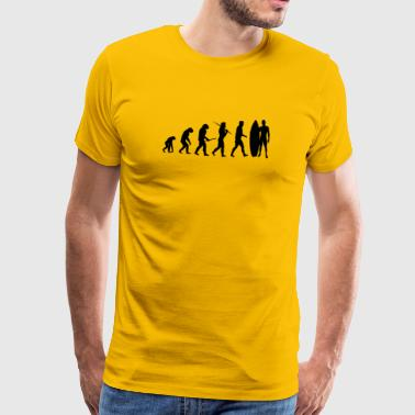 Evolution Surfing Gift - Premium-T-shirt herr