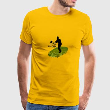 Rugby is in mijn DNA-fingerprint Gift - Mannen Premium T-shirt
