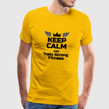 KEEP CALM Phrase For fitness lovers - Men's Premium T-Shirt