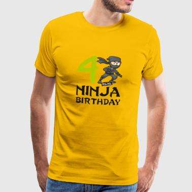 Ninja 4th Fourth Kids Birthday Karate T-Shirt - Men's Premium T-Shirt