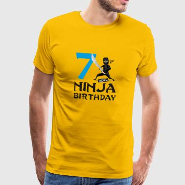 Ninja 7th seven kids birthday karate t-shirt - Men's Premium T-Shirt