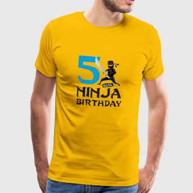 Ninja 5th Fifth Birthday Kids Karate T-Shirt - Men's Premium T-Shirt