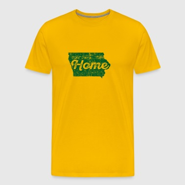 Iowa Home State Distressed - Men's Premium T-Shirt