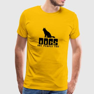 Dogs People Too Pet Lover - Maglietta Premium da uomo