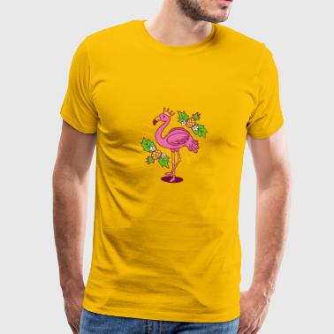 Flamingo pink fruits crown cool gift idea - Men's Premium T-Shirt