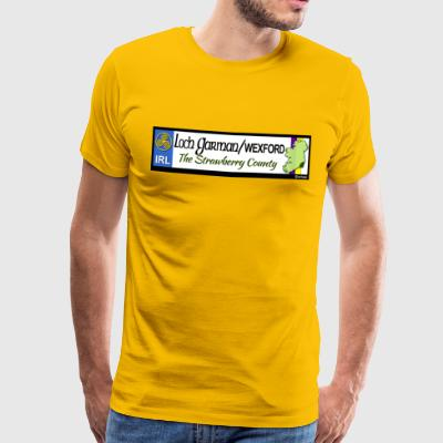 WEXFORD, IRELAND: licence plate tag style decal eu - Men's Premium T-Shirt