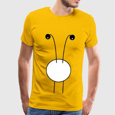 curious monster big belly and big eyes - Men's Premium T-Shirt
