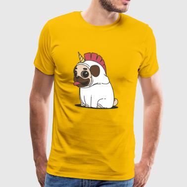 unicorn pug dog - Men's Premium T-Shirt