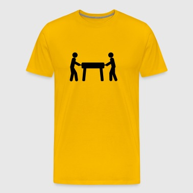 Foosball table stick figures  - Men's Premium T-Shirt
