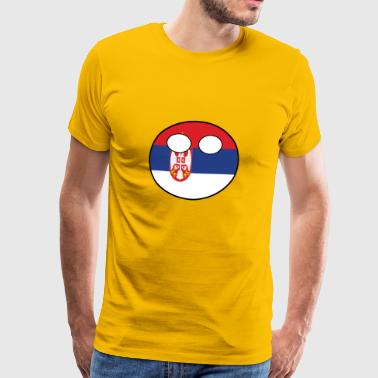Countryball Country Home Serbia - Men's Premium T-Shirt