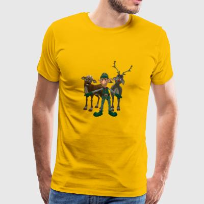 Elf met rendier - Mannen Premium T-shirt
