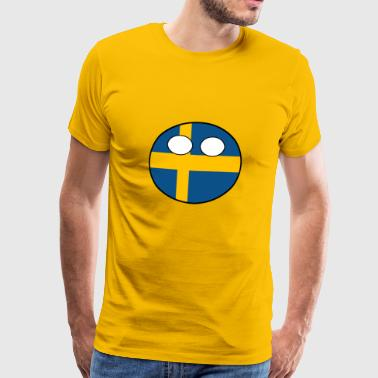 Land ball Land landet Sverige - Premium T-skjorte for menn