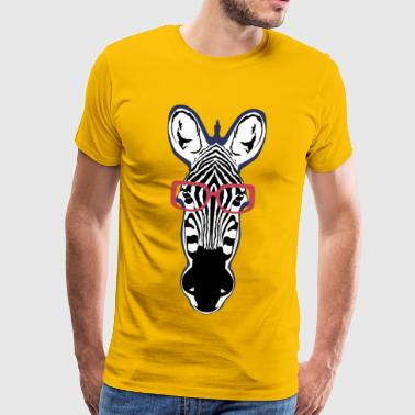 zebra head fancy bezel 1903 x - Men's Premium T-Shirt