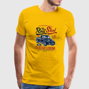 Real Steel - Premium-T-shirt herr