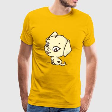 Sweet dog with heart | Gift children - Men's Premium T-Shirt