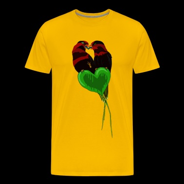 Lovebirds by BlackenedMoonArts - Herre premium T-shirt