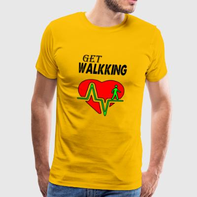 get walking - Men's Premium T-Shirt