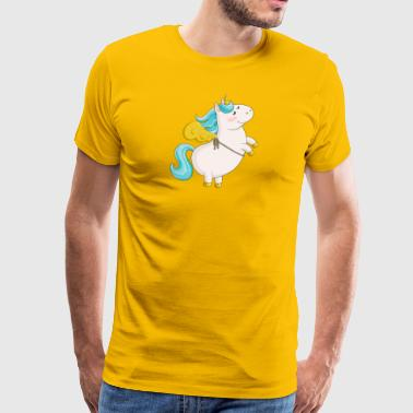 Flying comic unicorn - Men's Premium T-Shirt