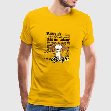 I Am Beagle - Lemon DA - Herre premium T-shirt