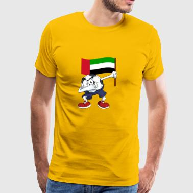 United Arab Emirates Dabbing football - Men's Premium T-Shirt