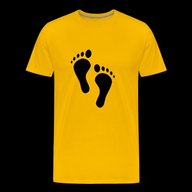 Traces of feet - Men's Premium T-Shirt