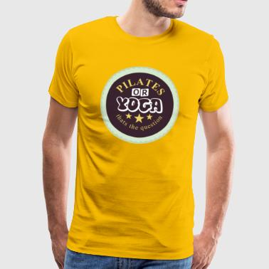 Pilates or yoga shirt - Men's Premium T-Shirt