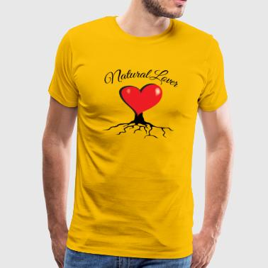 Natural Lover - Big red organic heart - PAN Design - Premium-T-shirt herr