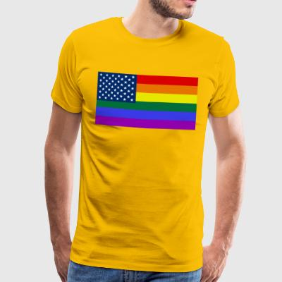 LGBT STOLTHED USA - Herre premium T-shirt