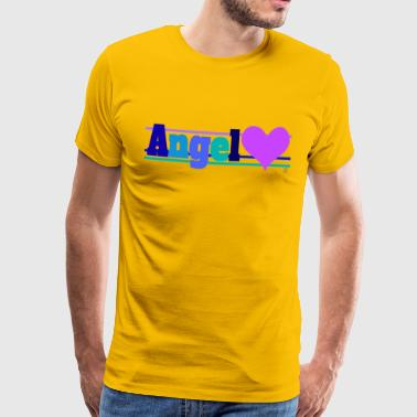 Angel and heart - Maglietta Premium da uomo