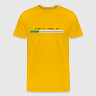 Restarting in ... - Loading bar - Men's Premium T-Shirt
