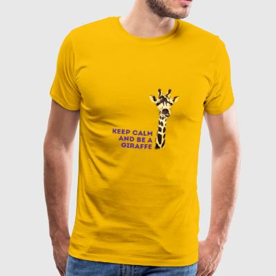 giraffe Keep Calm neck long africa animal cute - Men's Premium T-Shirt