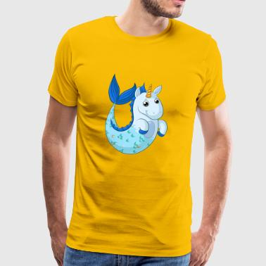 Unicorn Mermaid Comic - Mannen Premium T-shirt