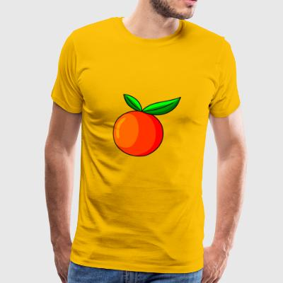 orange orange veggie veggi fruit fruits - Men's Premium T-Shirt