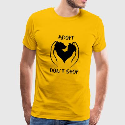 Adopter ne pas magasiner - T-shirt Premium Homme