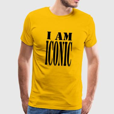 iconic blak - Men's Premium T-Shirt