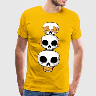 Cute Skulls No Evil II - Men's Premium T-Shirt