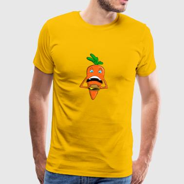 Carrot eating fast food - Men's Premium T-Shirt