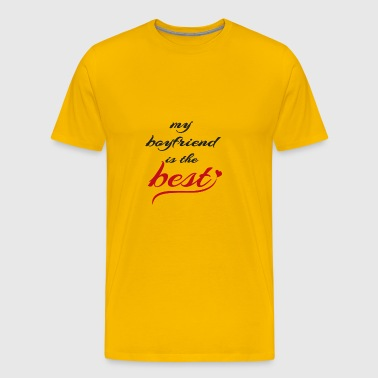 boyfriend is the best - Men's Premium T-Shirt