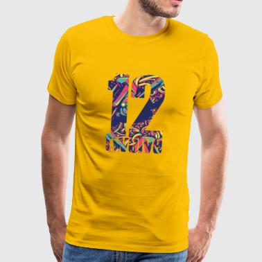 Lucky number 12 - Men's Premium T-Shirt